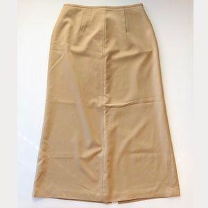 Talbots Khaki 100% Wool Pleated Career Skirt sz 10